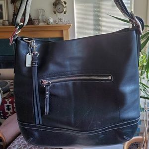 Coach Black Leather hobo shoulder bag
